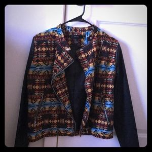 Aztec/tribal print jacket